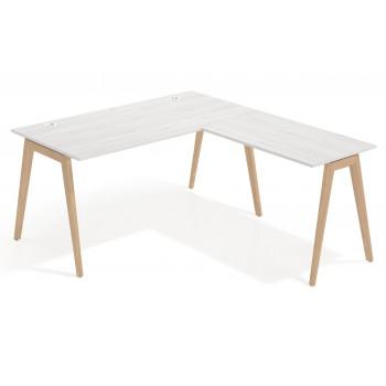 Forest - Mesa de escritorio con ala forest, estructura madera maciza - Imagen 1