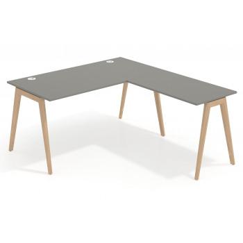 Mesa de escritorio con ala...
