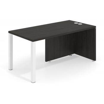 Meet - Mesa de escritorio meet  estructura blanca - Imagen 1