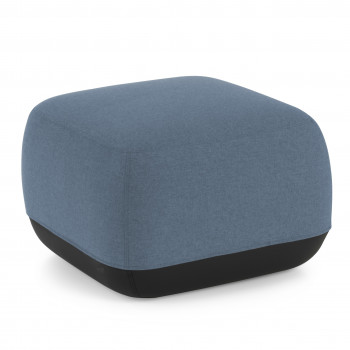 Pouf Benne cuadrado azul