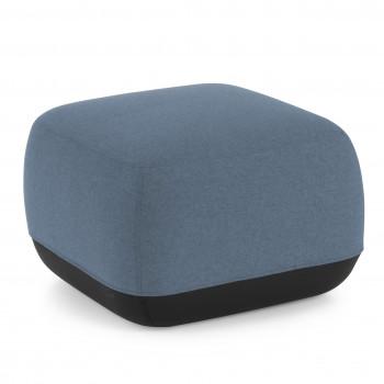 Benne - Pouf sala de espera Benne cuadrado azul - Imagen 1