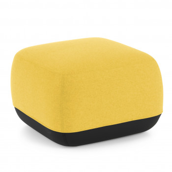 Benne - Pouf sala de espera Benne cuadrado amarillo - Imagen 1
