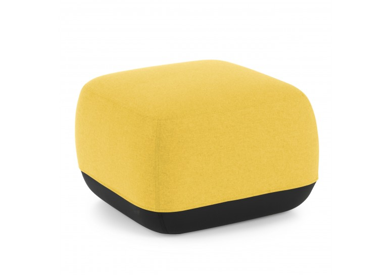 Pouf Benne cuadrado amarillo