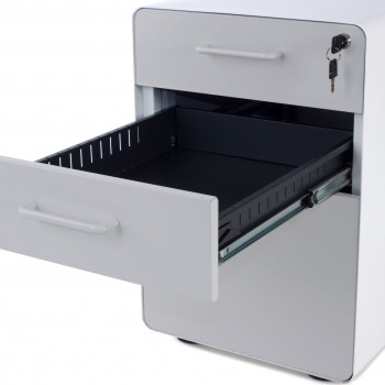 Apple - Cajonera de oficina apple blanco/gris - Imagen 2