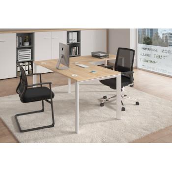 Link - Mesa de oficina con ala Link estructura blanca - Imagen 2