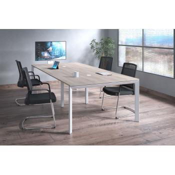 Link - Mesa de reuniones Link 126 doble estructura blanca - Imagen 2