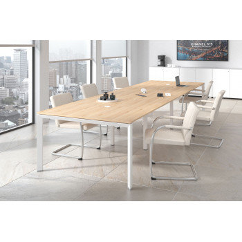 Link - Mesa de reuniones Link 126 triple estructura blanca - Imagen 2
