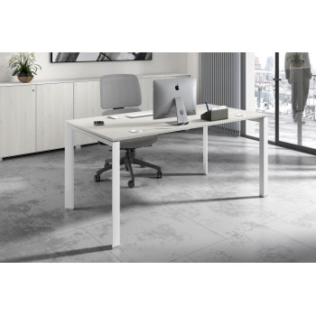 Link - Mesa de escritorio Link fondo 80 estructura blanca - Imagen 2