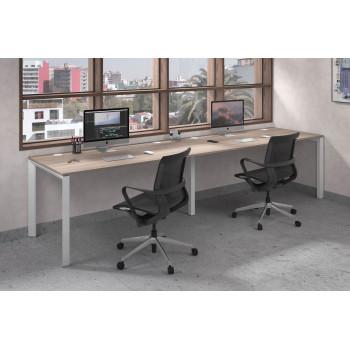 Link - Mesa de oficina progresiva doble serie link estructura blanca - Imagen 2