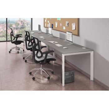 Link - Mesa de oficina progresiva triple serie link estructura blanca - Imagen 2
