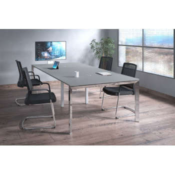 Link - Mesa de reuniones Link 126 doble estructura cromo - Imagen 2