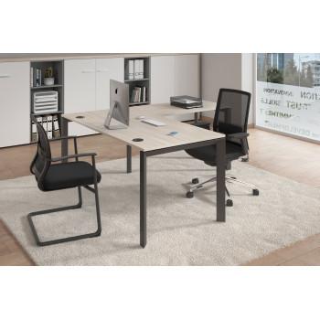 Link - Mesa de oficina con ala Link estructura negro - Imagen 2