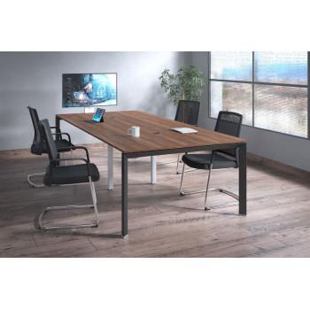 Link - Mesa de reuniones Link 126 doble estructura negro - Imagen 2