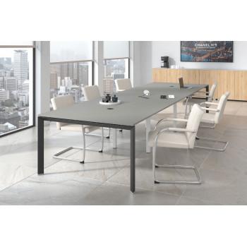 Link - Mesa de reuniones Link 126 triple estructura negro - Imagen 2