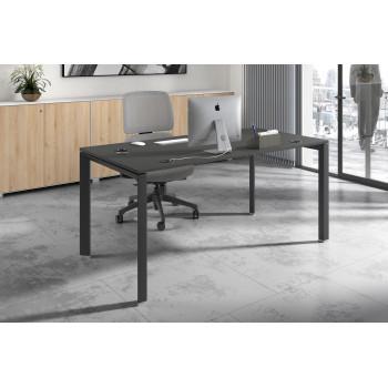 Link - Mesa de escritorio Link fondo 80 estructura negro - Imagen 2