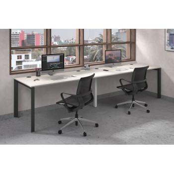 Link - Mesa de oficina progresiva doble serie link estructura negro - Imagen 2