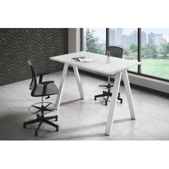 Uve - Mesa de escritorio alta Uve estructura blanca - Imagen 2