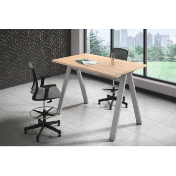 Uve - Mesa de escritorio alta Uve estructura estructura aluminio - Imagen 2