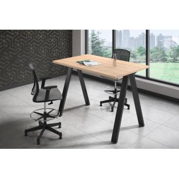 Uve - Mesa de escritorio alta Uve estructura negra - Imagen 2