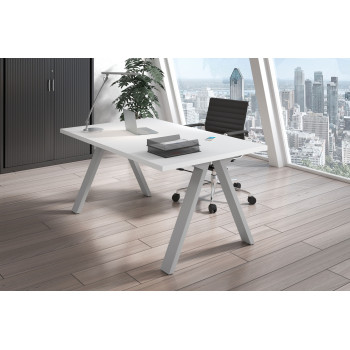 Uve - Mesa de escritorio Uve estructura estructura aluminio - Imagen 2