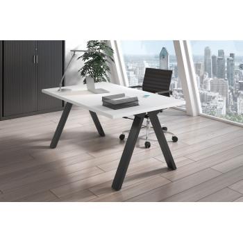 Uve - Mesa de escritorio Uve estructura negra - Imagen 2