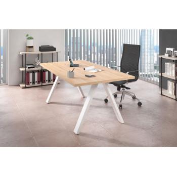 Uve - Mesa de escritorio Uve estructura blanca - Imagen 2