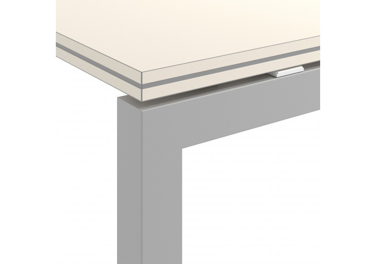 Mesa bench serie Work Quattro fondo 123 estructura aluminio