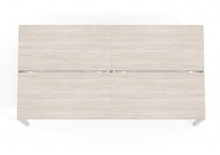 Mesa bench doble serie Work Quattro fondo 123 estructura aluminio