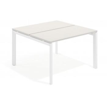 Work Trio - Mesa bench serie Work Trio fondo 123 estructura blanca - Imagen 1