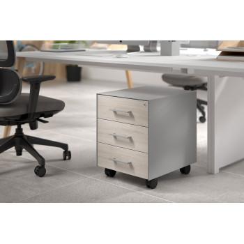 Dado - Cajonera de oficina dado 3 cajones estructura aluminio - Imagen 2