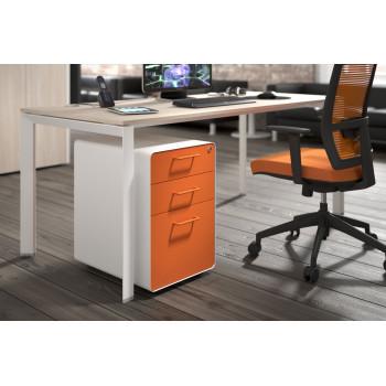 Apple - Cajonera de oficina apple blanco/naranja - Imagen 2