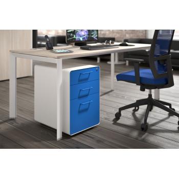 Apple - Cajonera de oficina apple blanco/azul - Imagen 2