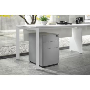 Moby - Cajonera de oficina moby XL aluminio - Imagen 2