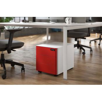 Moby - Cajonera de oficina moby 3 cajones rojo - Imagen 2