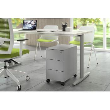 Steelbox - Cajonera de oficina steelbox mini aluminio - Imagen 2