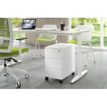 Steelbox - Cajonera de oficina steelbox mini estructura blanca - Imagen 2