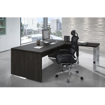 Manager - Mesa de dirección con ala Manager estructura estructura cromo - Imagen 2