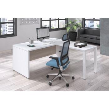 Manager - Mesa de dirección con ala Manager estructura blanca - Imagen 2