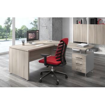 Manager - Mesa de dirección con ala Manager con cajonera 3 cajones - Imagen 2