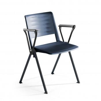 Replay - Silla confidente Replay, 4 patas con brazos azul - Imagen 1