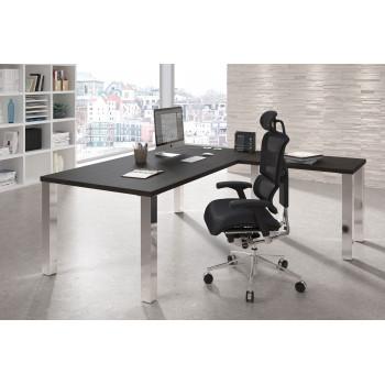 Quadra - Mesa de oficina Quadra con ala estructura estructura cromo - Imagen 2