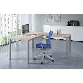 Quadra - Mesa de oficina Quadra con ala estructura estructura aluminio - Imagen 2