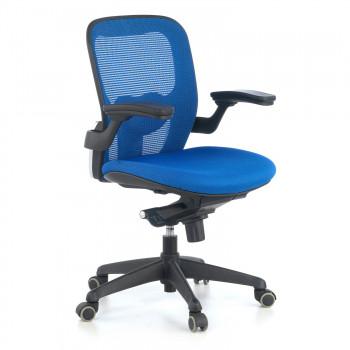 Gioconda - Silla ergonómica Gioconda, soporte lumbar, red azul - Imagen 1