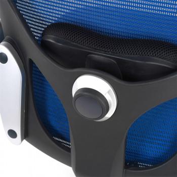 Gioconda - Silla ergonómica Gioconda, soporte lumbar, red azul - Imagen 2