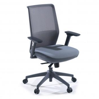 Wind - Silla de oficina Wind, respaldo ergonómico, brazos 3D, red gris - Imagen 1
