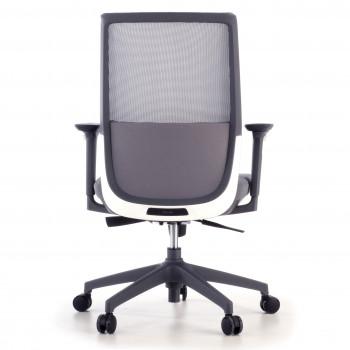 Wind - Silla de oficina Wind, respaldo ergonómico, brazos 3D, red gris - Imagen 2