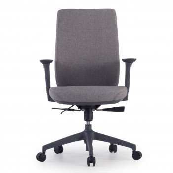 Wind - Silla de oficina Wind, respaldo regulable, brazos 3D, tapizado gris - Imagen 2