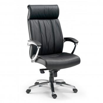 Convex - Sillón de oficina Convex, piel natural negro - Imagen 1