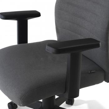Parma - Silla de escritorio giratoria Parma, mecanismo basculante, Gris - Imagen 2