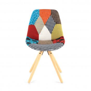Nordic - Silla confidente Nordic patas de madera, patchwork - Imagen 2